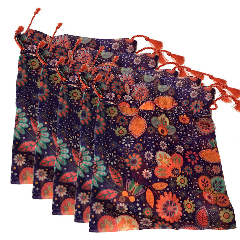 Chanderi Potli Bags /Gift Bags (pack of 5) - Stonesoup Shop