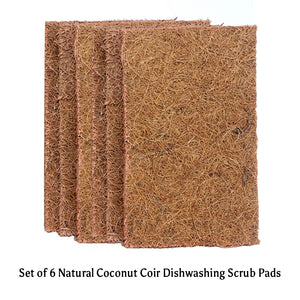 Goli Soda - Natural Coconut Coir Dishwashing Scrub Pads (Set of 6) - Stonesoup Shop