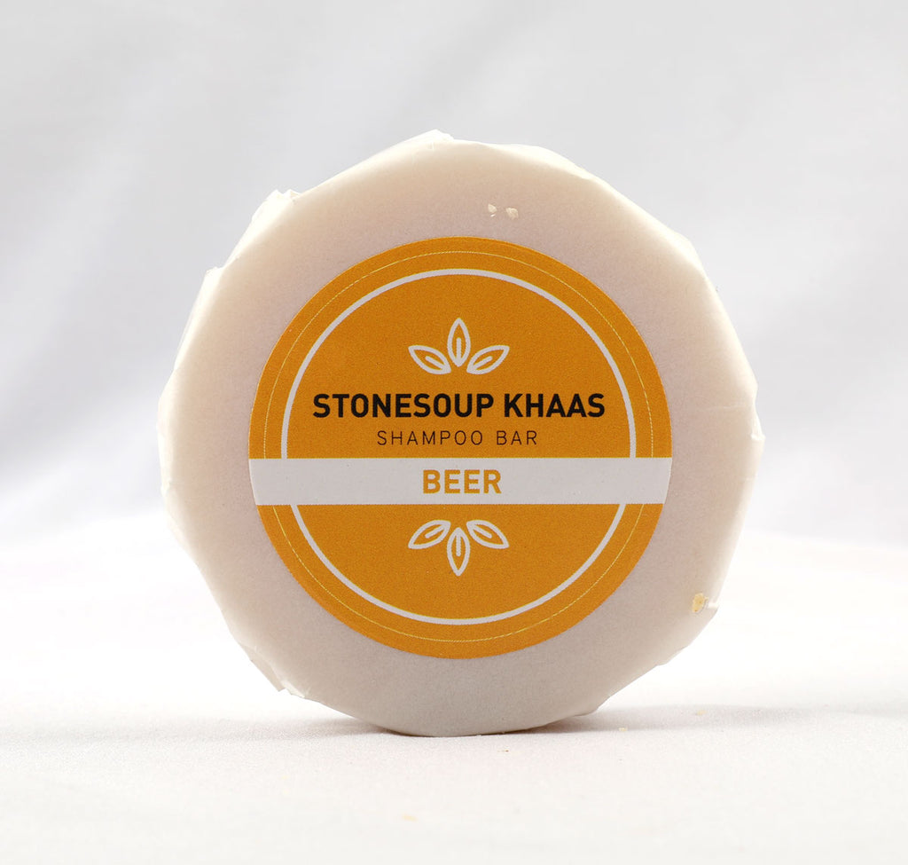 Stonesoup Khaas Shampoo Bar: Beer 100g - Stonesoup Shop