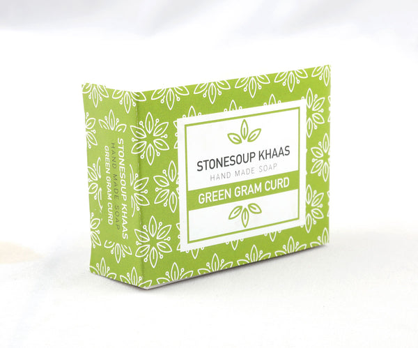 Stonesoup Khaas Soap: Green Gram Curd 100g - Stonesoup Shop