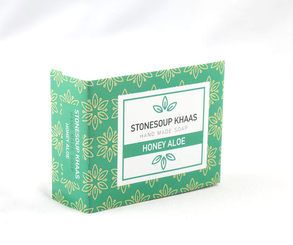 Stonesoup Khaas Soap: Honey Aloe 100g - Stonesoup Shop