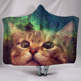 Cat Space Hooded blanket  - Grr Cats