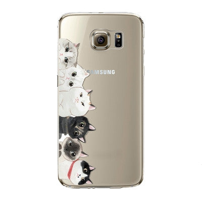 Samsung Phone Case Silicon Family 2 Silicon - Grr Cats