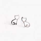 Cat Stud Earrings Cat Stud Earrings - Grr Cats