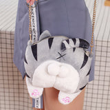 CHEEKY CAT BUTT MESSENGER BAG bag - Grr Cats