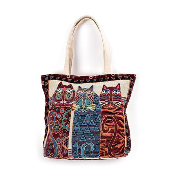 Vintage Femal Shoulder Bag for the summer bag - Grr Cats