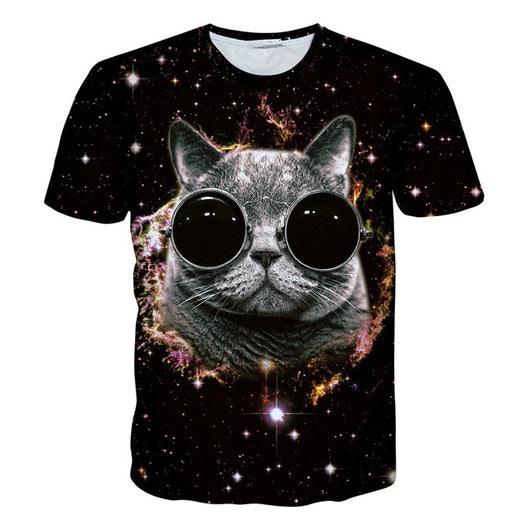 Cat face space T-shirt - Grr Cats
