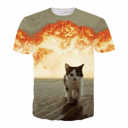 3d cat t-shirt T-shirt - Grr Cats