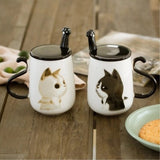 Cute Cat Big ceramic coffee 450ML Coffee Cup - Grr Cats