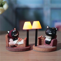 Black Cat Night Light lamp - Grr Cats