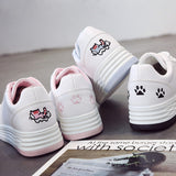 Kitty Paw Leather Shoes sneakers - Grr Cats