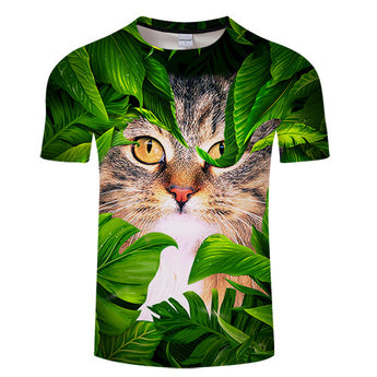 3D Jungle Cat T-shirt - Grr Cats