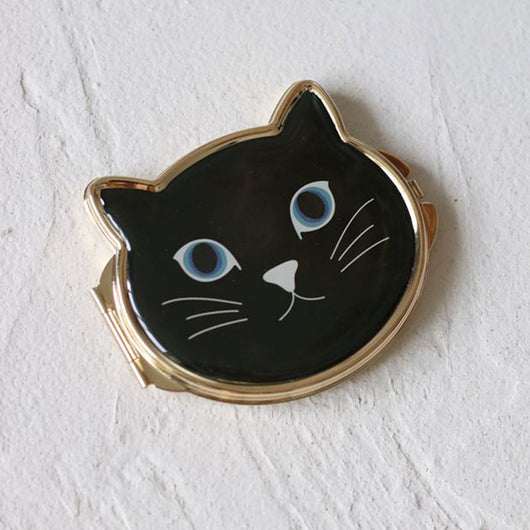 Ladies Cat Pocket Mirror with colors choice Mirror pocket - Grr Cats