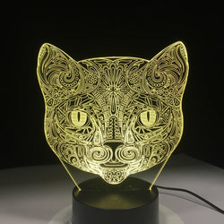 Cool 3D Stylish Cat Night Lamp lamp - Grr Cats