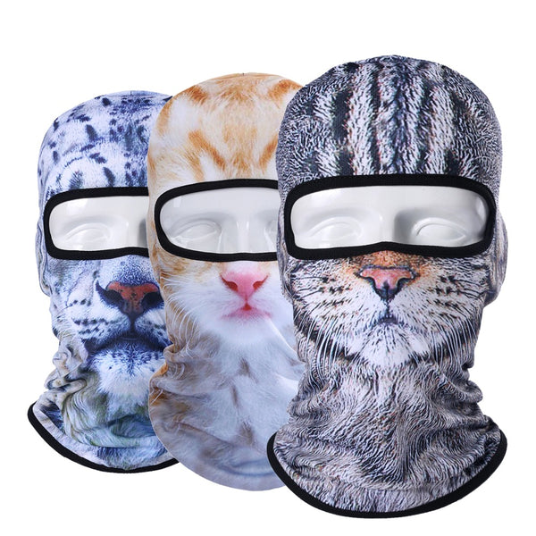3D ANIMAL CAT DOG FACE MASK MASK - Grr Cats