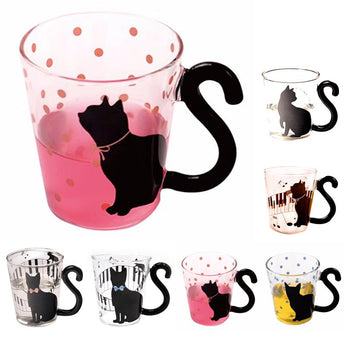Lovely Cat Tail Glass Mugs Mug - Grr Cats