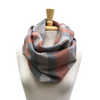 Coral, Pool and Cream Woven Infinity Scarf