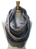 Floral Linen Infinity Scarf