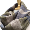 Navy, Green and Cream Woven Infinity Scarf