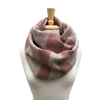 Pink, Cream and Taupe Woven Infinity Scarf