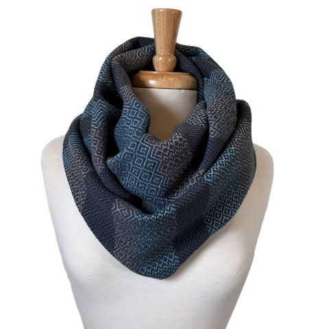 Pool, Steel Grey, Taupe and Navy Woven Infinity Scarf