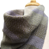 Spring Green, Moss Green and Grey Woven Bandana Scarf