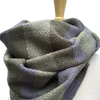Spring Green, Moss Green and Grey Woven Infinity Scarf