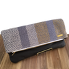 Wheat, Cream and Grey Woven Fold Over Clutch