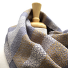 Wheat, Cream and Grey Woven Infinity Scarf