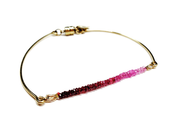 Ruby rainbow bangle