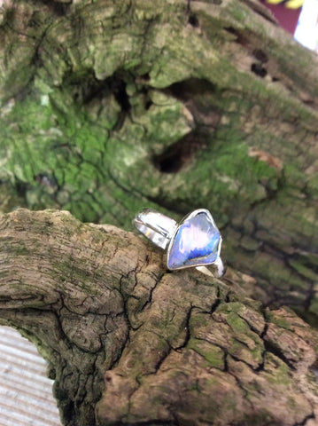 Ethiopian Opal ring set in Sterling Silver.