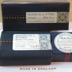 Bath House products for men, Spanish fig & nutmeg and Cuban cedar and lime ranges