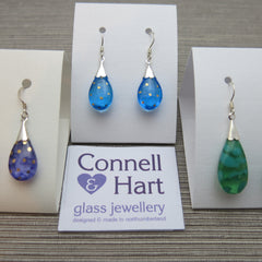 Glass jewellery by Connell and Hart, made in Northumberland