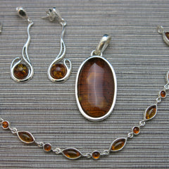 Baltic amber and Sterling Silver jewellery