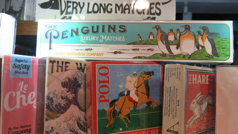 Archivist Gallery gift boxed matches in lots of eye-catching designs.