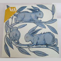William De Morgan 'Rabbits on a Branch' Notecard Pack