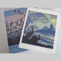 Sunset & Harvest Moon Notecard Pack