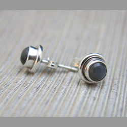 Sterling Silver and Labradorite Stud Earrings