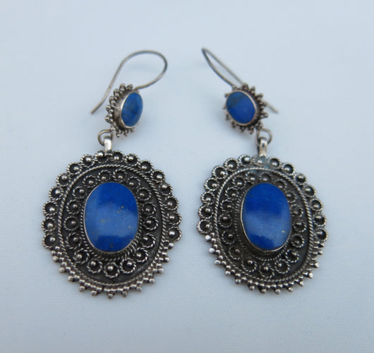 Afghan lapis lazuli drop earrings