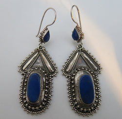 Afghan Lapis Lazuli Earrings