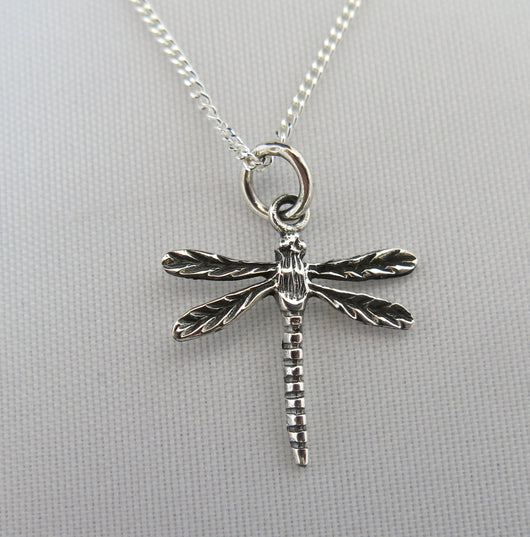 Dragonfly pendant and chain