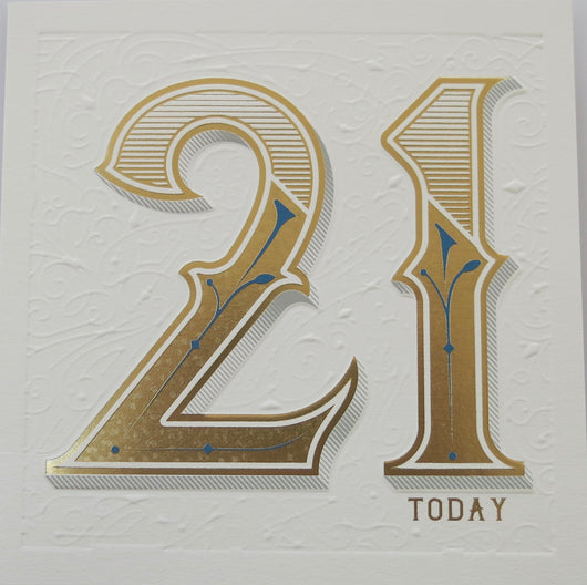 SINGLE CARD. 21st Birthday card.