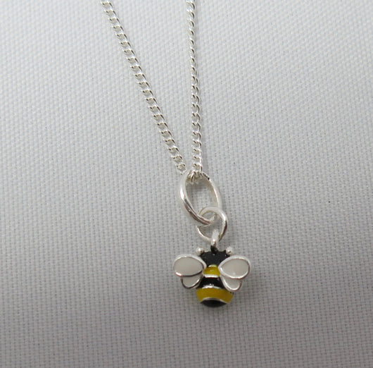 Tiny enamelled Bee Pendant