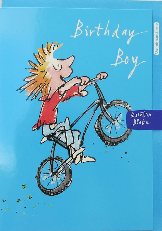 SINGLE CARD - Quentin Blake , Birthday.