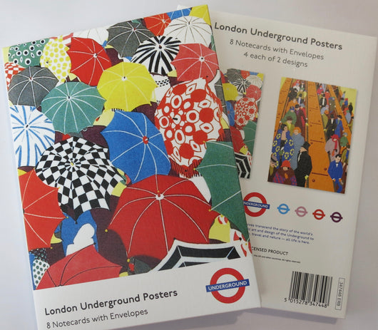 Notecard Pack. London Underground Posters.
