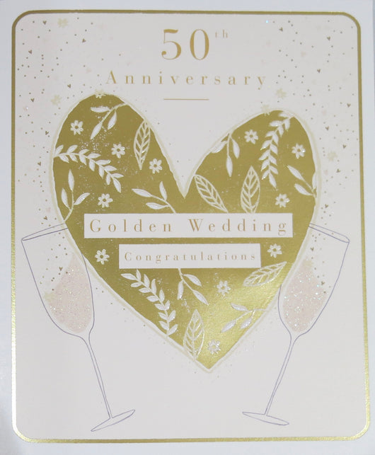 SINGLE CARD - Golden Wedding