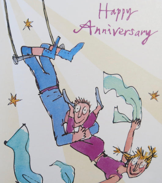SINGLE CARD -  Happy Anniversary, Quentin Blake