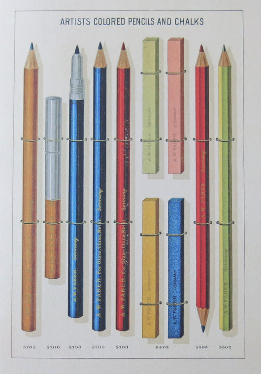 SINGLE CARD - Artists Pencils and Chalks