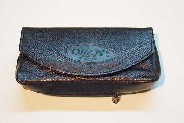 Comoy Leather Combination Pouch - Black (14060)