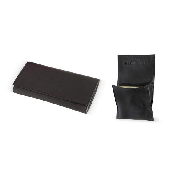 4th Generation Leather Kenzo Black Rollup Pouch